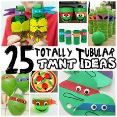 Turtle Birthday Parties, Ninja Turtle Birthday, Ninja Turtle Party, Ninja Turtles, Birthday Ideas, Birthday Cake, Craft Activities For Kids, Crafts For Kids, Children Crafts