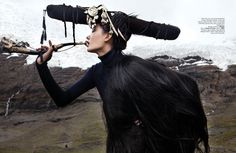 """Life in pics: Editorials: """"7 days in Tibet"""" - Zhang Fan by Nicoline Patricia Malina"""