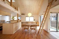 光風舎1級建築士事務所 の 北欧風 リビングルーム 久が原の家