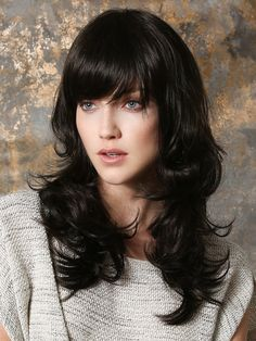 Take a look at this wavy wig style featuring long lengths. Pretty by Ellen Wille Wigs features a monofilament wig cap for a natural wig look. Winter Hairstyles, Hairstyles With Bangs, Pretty Hairstyles, Braided Hairstyles, Hairstyle Hacks, Natural Wigs, Pelo Natural, Box Braids Pictures, Short Human Hair Wigs
