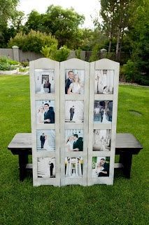 Image result for display engagement photos at wedding