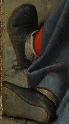 Gerard David (Netherlandish, Oudewater ca. 1455–1523 Bruges) The Resurrection, detail of shoes.