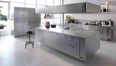 cuisine professionnelle en acier inoxydable - Abimis par Prisma