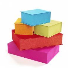 Bookbinders Design Cloth Box (A4) [x] have Turquoise, Black/White, Emerald, Orange
