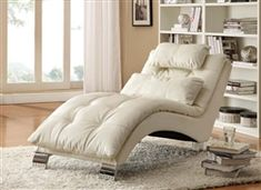 Contemporary and comfortable, this Coaster Furniture Carlsbad Chaise Lounge makes a designer statement and maximizes relaxation. This chaise lounge. Chaise Lounges, Tufted Chaise Lounge, Lounge Chairs, Lounge Couch, Comfy Chair, Bed Couch, Reading Chairs, Lounge Cushions, Office Chairs