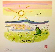 Imagine the Art of John Lennon : Artprice Ads : FROG PONDERING [John LENNON]
