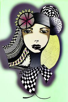 Woman graphic art // IsthisART  http://www.i-m.co/lindlachris/IsthisARThome/home.html