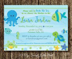 Invitacion debajo del mar invitacion baby por MySweetLittleOwl