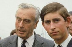 A young Prince Charles of Wales with his mentor and great Uncle Lord Louis Mountbatten, Earl Mountbatten of Burma. (Louis is Charles' father's maternal uncle. Prince Charles And Camilla, Prince Phillip, Windsor, Lady Diana, Duchess Of Cornwall, Duchess Of Cambridge, Prince And Princess, Princess Diana, Louis Mountbatten