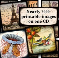 CD with thousands of printable, royalty-free images for all kinds of DIY craft projects, by piddix.