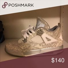 "Jordan 4""laser"" Good Condition Shoes Sneakers"