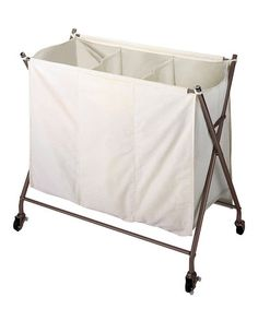 This Bronze Rolling Laundry Hamper is perfect! #zulilyfinds
