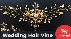 Wedding Gold Hair Vine for Brides. DIY Tutorial [Eng Subs]