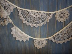Vintage Doily Bunting!