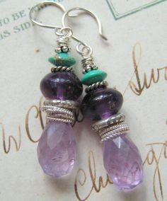 Purple Rain / Cape Amethyst, Grape Amethyst, Turquoise, Sterling $44 Cdn