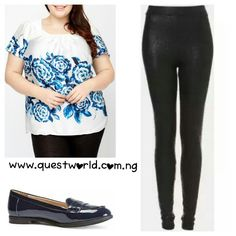 Big and Beautiful #plussize #top #skirt #loafers We Deliver! www.questworld.com.ng Nationwide (#2500) Delivery from 24hrs! Pay on Delivery within Lagos(#1000) We stock size 6-32 ladies clothes and footwear from size 3/36 to size 9/43. We have your style, taste and promise to make you look beautiful