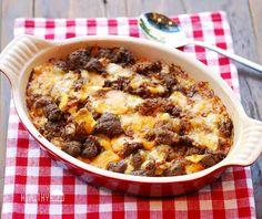Cheeseburger Casserole Shared on https://www.facebook.com/LowCarbZen | #LowCarb #Casserole #Dinner