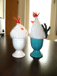 Mr and Mrs Morning Egg Cozies