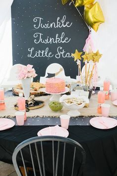 Twinkle twinkle little star themed birthday party