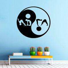 Yin Yang Yoga Wall Decal Vinyl Sticker Wall Decor Home Interior Design Art Murals M730