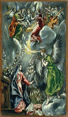 "El Greco, ""Annunciation"", 1596-1600, Museo Thyssen-Bornemisza"
