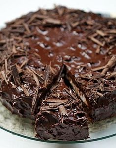 I always hear chocolate calling out to me . Maybe chocolate has a bigger voice? Don't know, don't care - CHOCOLATE WINS! Brownie Desserts, Chocolate Desserts, Just Desserts, Delicious Desserts, Yummy Food, Chocolate Cheesecake, Sweet Recipes, Cake Recipes, Dessert Recipes