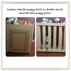 Dog crate with divider that makes a perfect accent piece