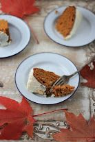 Pumpkin Spice Cake with Honey Cream Cheese Frosting - Messy Kitchen Stories