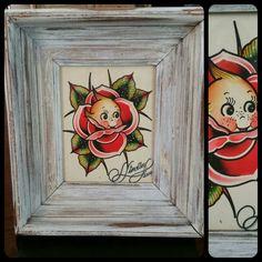 Kepwie paints #kewpie #rose #watercolor #painting