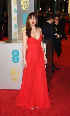 Dakota Johnson en los Premios Bafta.