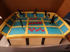 Wow! Trampoline Cake - amazing. Even has the side walls