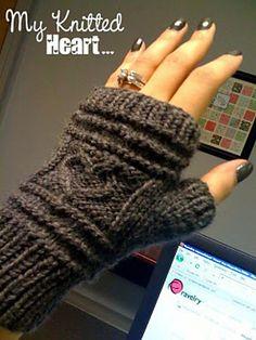 OOOOh! Heart fingerless gloves crochet