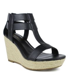 Look at this Black Zip Cosmo Sandal on #zulily today!