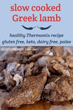 skinnymixer's Slow Cooked Greek Lamb – skinnymixers Greek Lamb Recipes, Lamb Recipes Oven, Slow Cooker Recipes, Cooking Recipes, Crockpot Ideas, Cooking Ideas, Keto Recipes, Cooking A Roast, Slow Cooker Roast