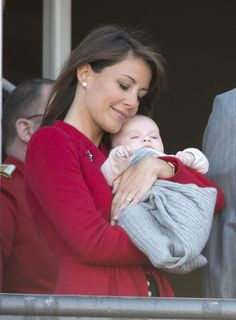 Princess Marie's darling daughter is the star of balcony celebrations for Queen Margrethe's 72nd birthday.  Their baby Princess will not be named until the christening on May 20, 2012.