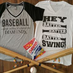 New baseball tees for this season at the ballpark! Great for moms, girlfriends and just lovers of the game! - mens black long sleeve button down shirt, offensive shirts, navy mens shirt *ad Baseball Mom Shirts, Softball Mom, Sports Shirts, Baseball Stuff, Baseball Clothes, Softball Cheers, Softball Pitching, Baseball Photos, Fastpitch Softball
