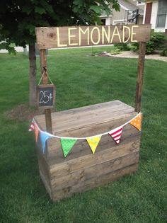 Sunshine on the Inside made this Lovely Lemonade Stand. Great way to age wood and super cute idea for the kiddos!