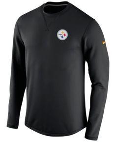 fe6e0ac113 Nike Men s Pittsburgh Steelers Modern Crew Long-Sleeve T-Shirt - Black S Fan