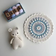 Beautiful Wednesday! 💙 A small giveaway for my lovely followers. Vinni Mouse, mandala and those cute cotton mini skeins. If you want to join in, just leave a comment below. I will draw a name Sunday 7th (Aug). I wish I could thank each and one of you in personal. For your wonderful support. You are truly amazing! 🌟 Thank you for being so wonderful. I feel grateful for being included in this community,  alongside such amazing people! ❤️ Open for all countries. ✨ #crochetersofinstagram…