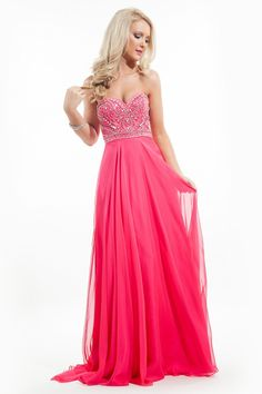 Fabulous and Romantic Chiffon Sweetheart A-Line Long Gown by Rachel Allan Princess Style 2027. Call 1-815-782-8877 to Order Your Rachel Allan Princess Dress 2027 Today!