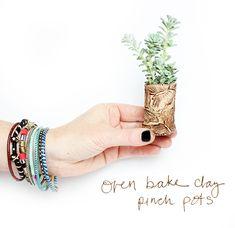 ~alisaburke: oven bake clay pinch pots~