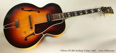 Gibson ES-300 Archtop Guitar, 1947 Full Front View