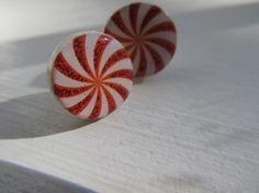 Peppermint Candy Earrings by IrisJane on Etsy