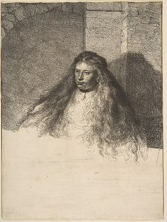 The Great Jewish Bride Rembrandt (Rembrandt van Rijn)  (Dutch, Leiden 1606–1669 Amsterdam) Date: 1635 Medium: Etching; second state of five Dimensions: sheet: 8 9/16 x 6 7/16 in. (21.8 x 16.4 cm) Classification: Prints Credit Line: H. O. Havemeyer Collection, Bequest of Mrs. H. O. Havemeyer, 1929 Accession Number: 29.107.32