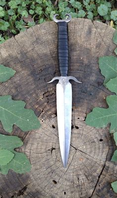 Forged Integral medieval dagger by oldetownsmithy on Etsy