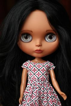 Custom OOAK Blythe Doll. Lexi by AdorablyMini Lexi has been my girl for about a year. She was my model and dress tester. She has this beautiful natural wave in her hair. Its just gorgeous. I decided to customize her, give her a good spa treatment and send her off to a loving home. Shes