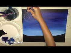 Summer Painting Videos - Step By Step Painting Cute Canvas Paintings, Canvas Painting Tutorials, Small Canvas Art, Simple Acrylic Paintings, Acrylic Painting Techniques, Diy Canvas Art, Painting Videos, Canvas Crafts, Acrylic Painting Canvas