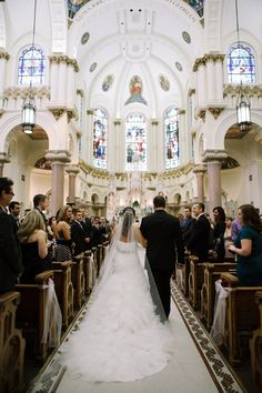 Wedding At The Sacred Heart Catholic Church In Downtown Tampa FL