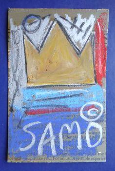 vintage Jean-Michele Basquiat NYC 1980 authentic Street Art postcard Grafitti #NeoExpressionism