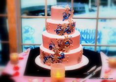 Our Cake; Inspired by our custom invitations                                             Photo taken by Right Angle Studio's.